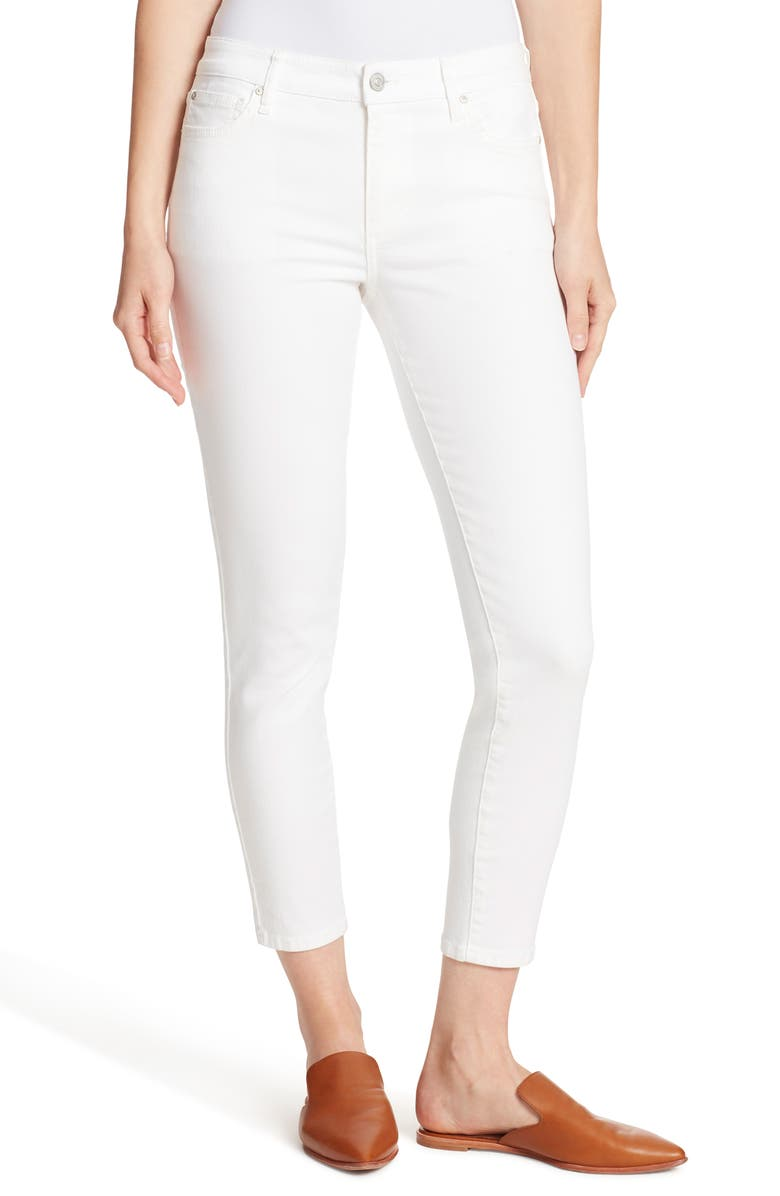 ELLA MOSS Crop Skinny Ankle Jeans, Main, color, WHITE