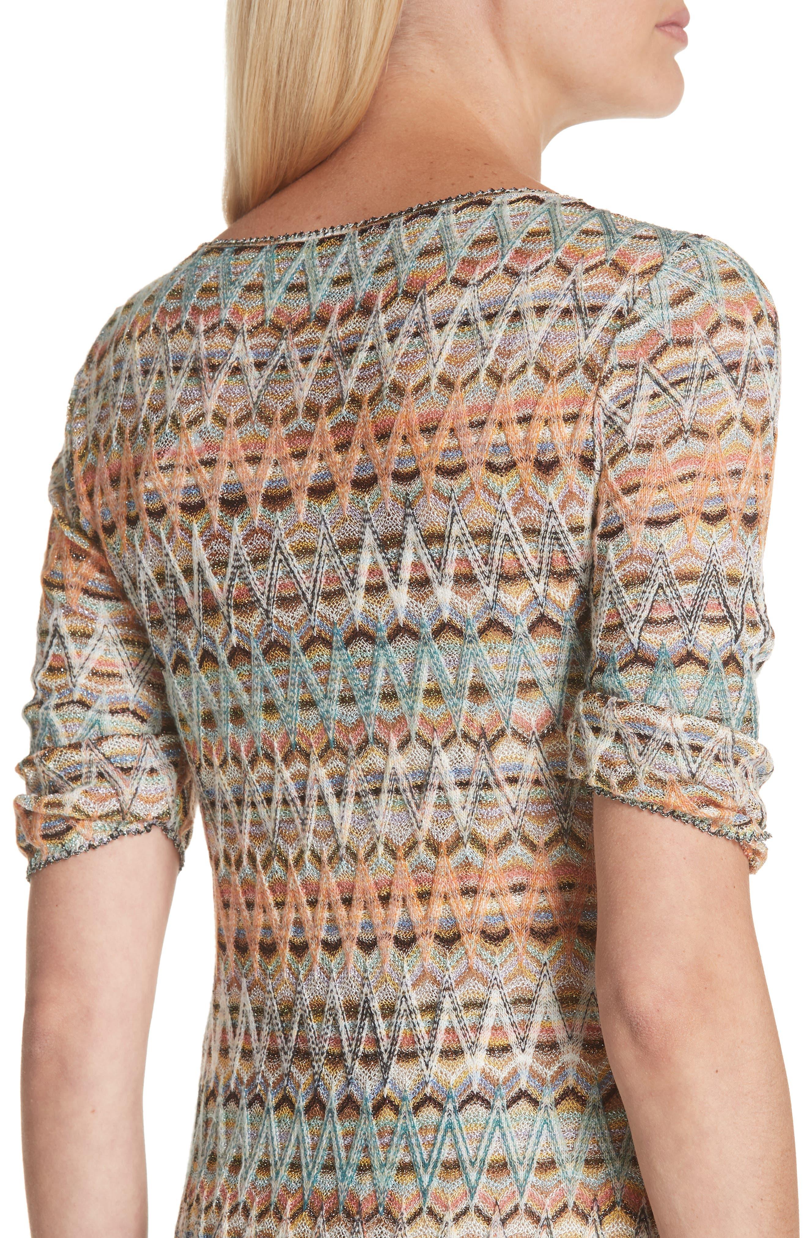 ,                             Open Knit Sweater Dress,                             Alternate thumbnail 4, color,                             MULTI