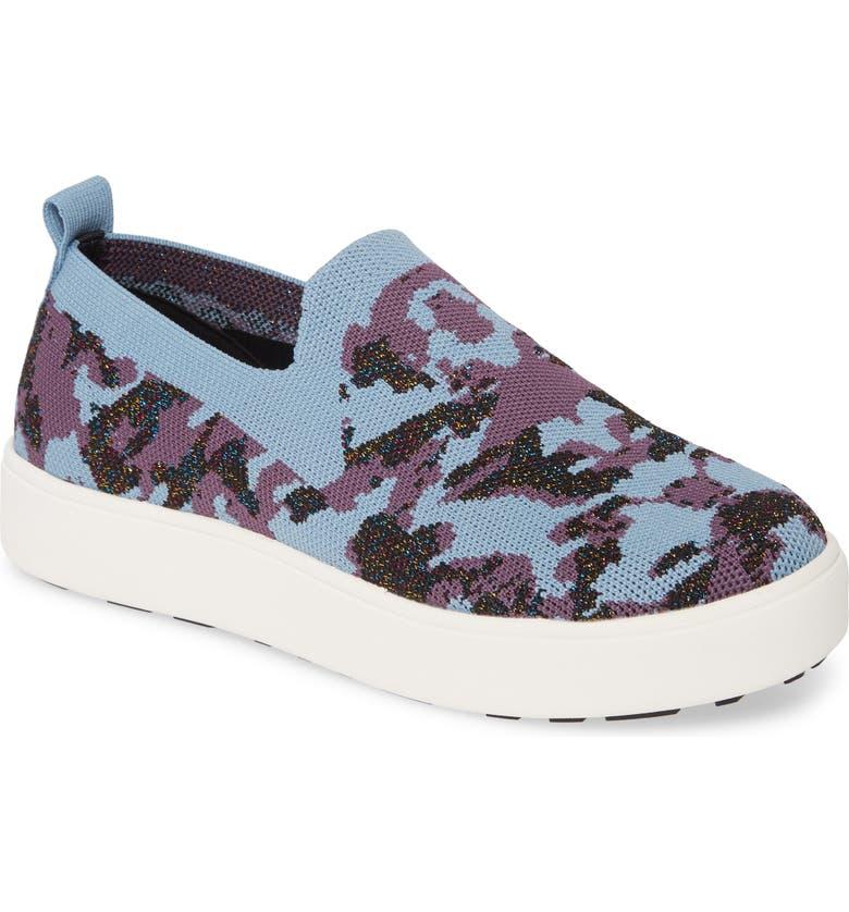 BERNIE MEV. Jenna Slip-On Sneaker, Main, color, BLUE CAMO FABRIC