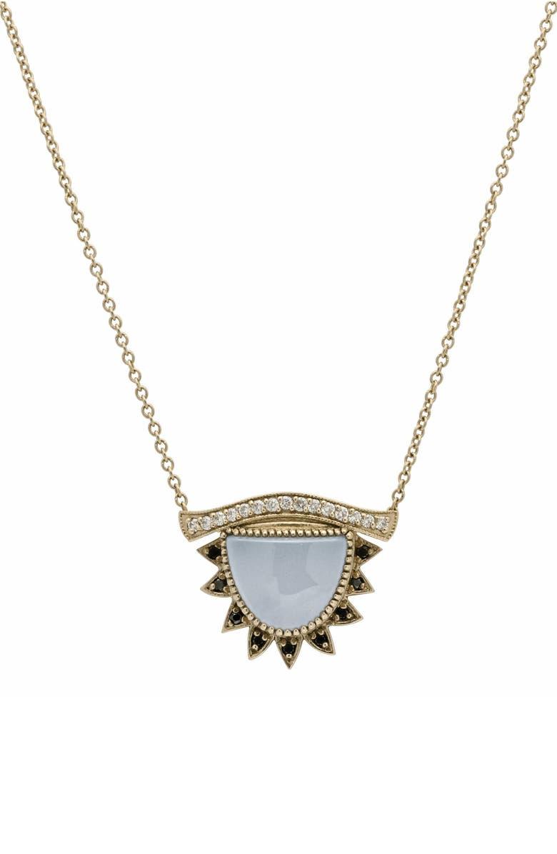CONGÉS Inspire & Calm Small Third Eye Necklace, Main, color, YELLOW GOLD