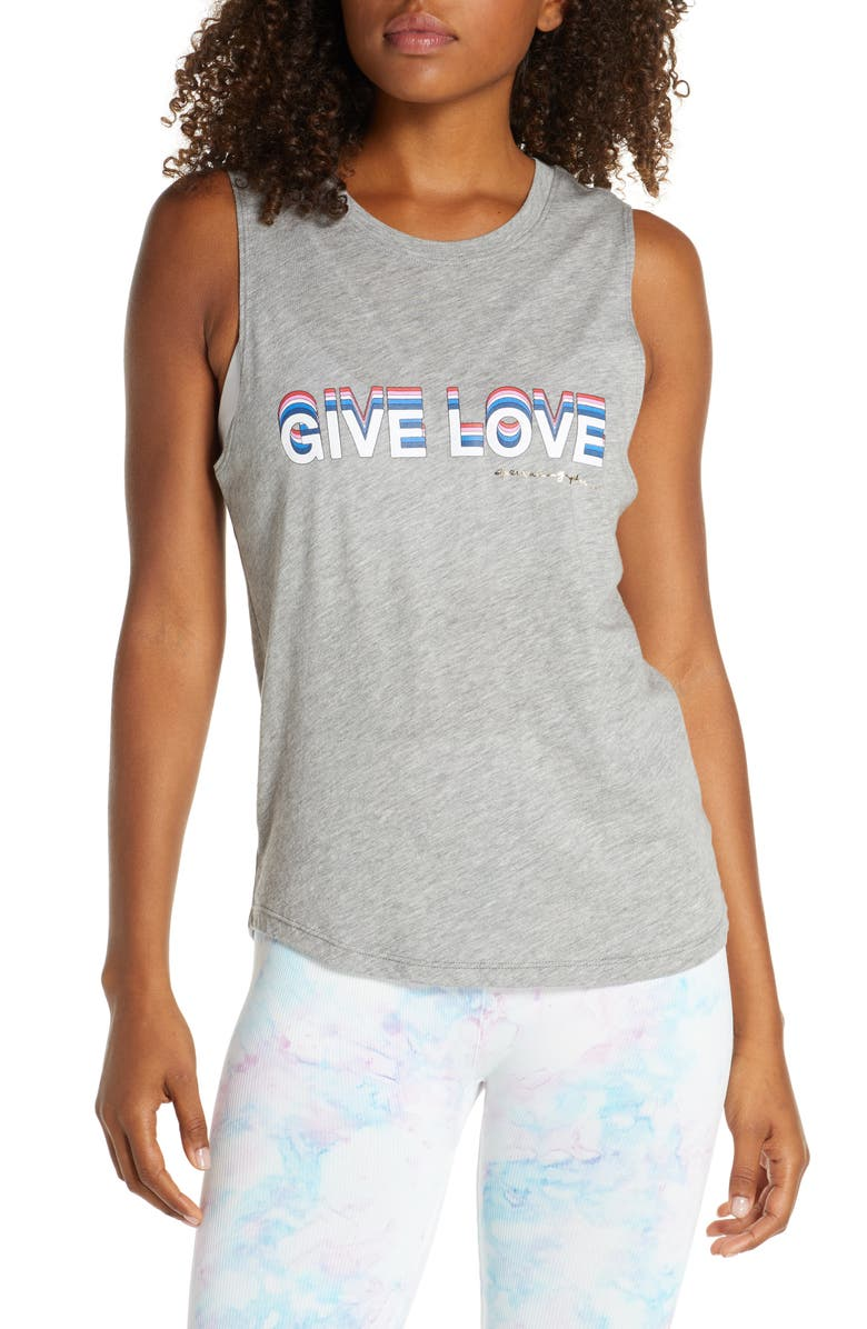 SPIRITUAL GANGSTER Give Love Muscle Tank, Main, color, HGR