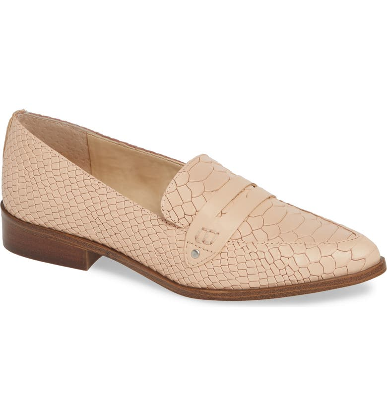 SOLE SOCIETY Jessica Smoking Slipper, Main, color, BISQUE LEATHER
