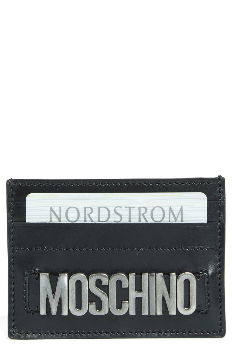 new arrival d6ed4 30241 Moschino Letters Card Case | Nordstrom
