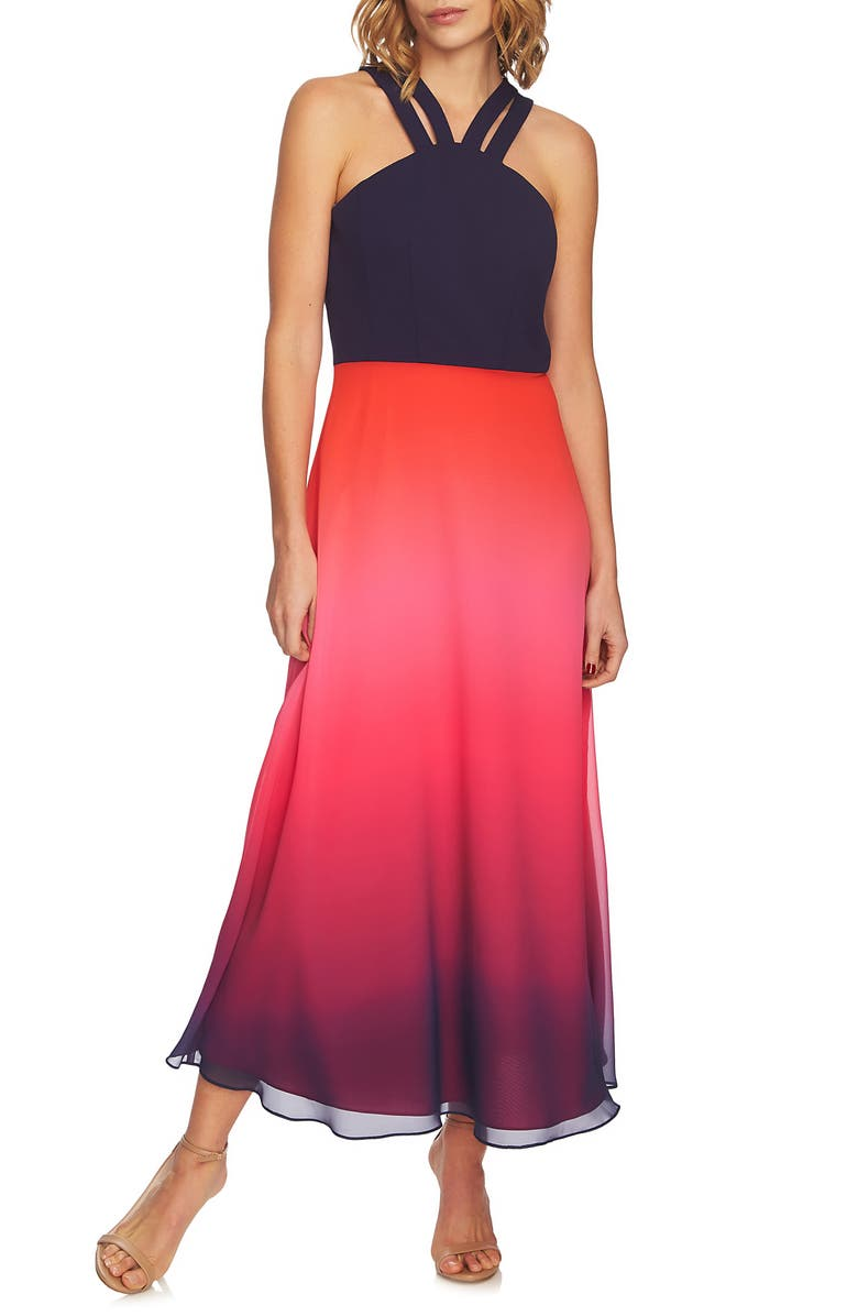 6bddb0791a Sara Double Strap Ombré Maxi Dress