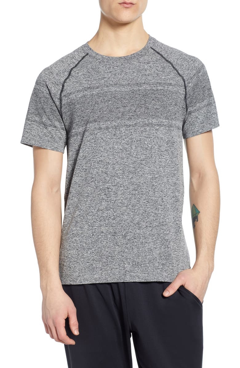 RHONE Method Seamless Performance T-Shirt, Main, color, BLACK HEATHER