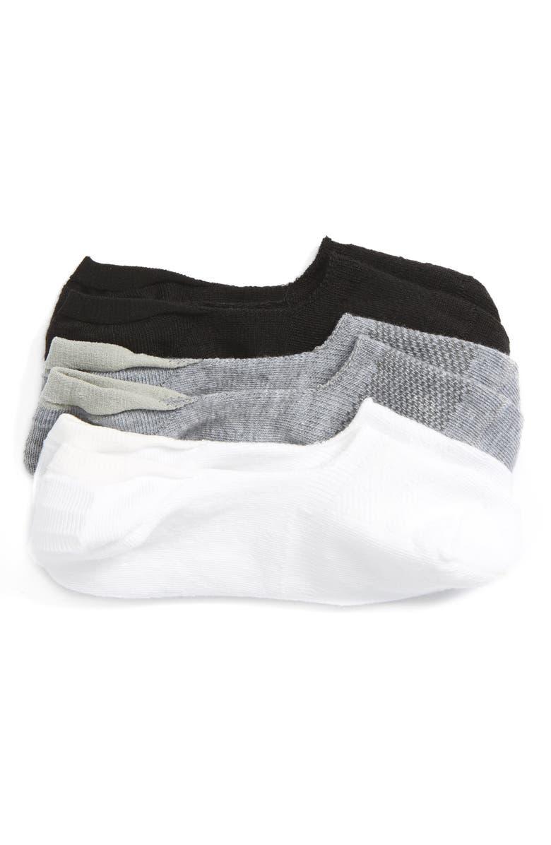 TUCKER + TATE Assorted 3-Pack Sneaker Liner Socks, Main, color, GREY MULTI
