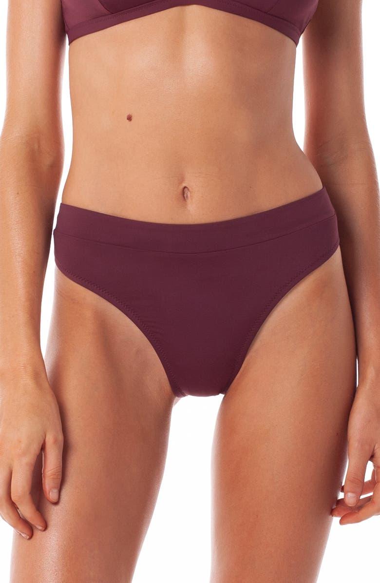 RHYTHM Islander Xanadu High Cut Bikini Bottoms, Main, color, BRANDY