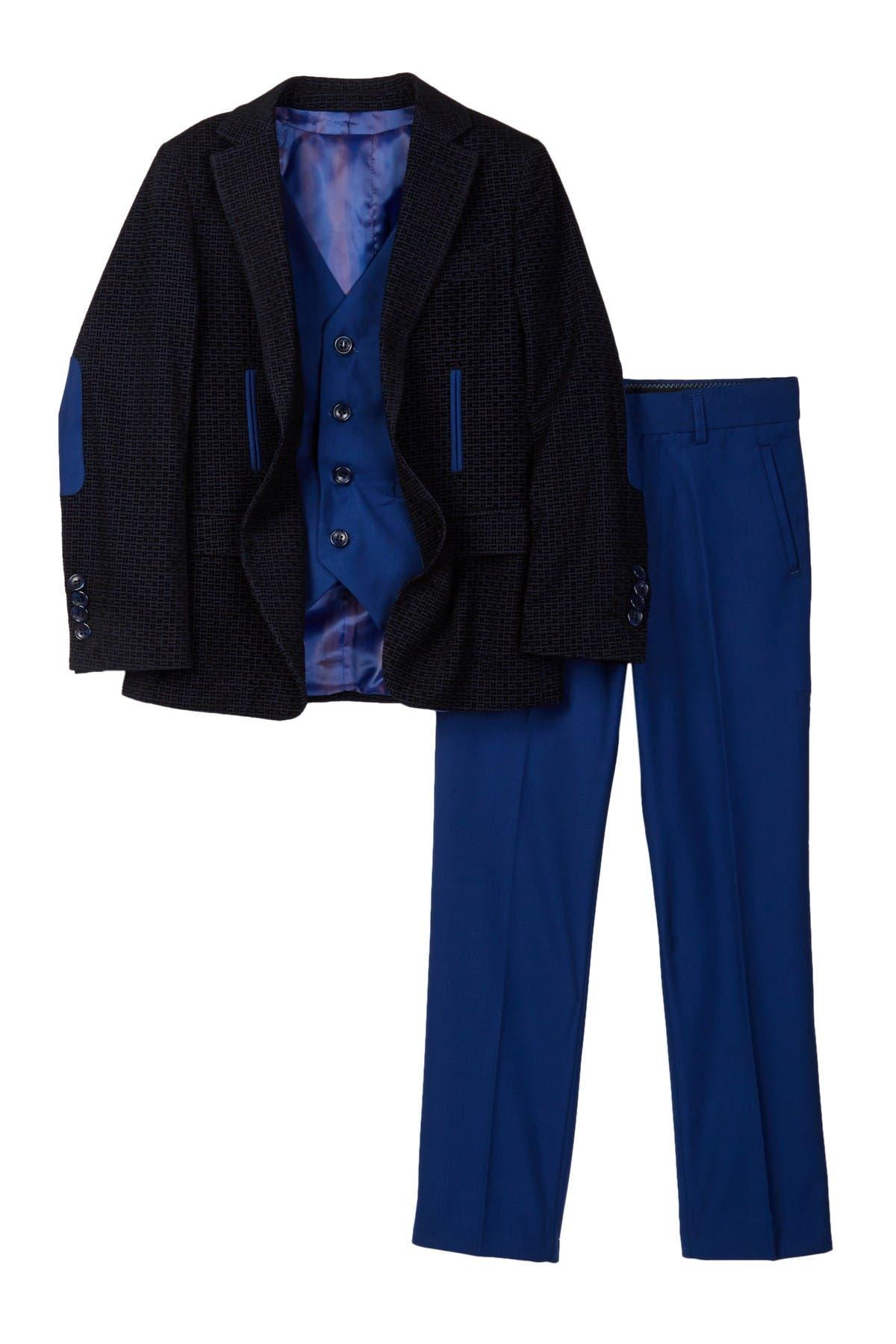 Image of Isaac Mizrahi Tonal Velvet 3-Piece Suit