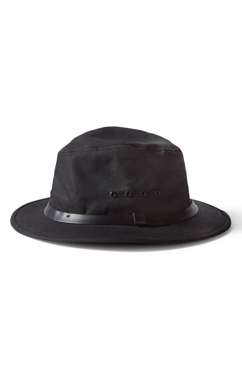 FILSON Tin Packer Hat, Main, color, BLACK