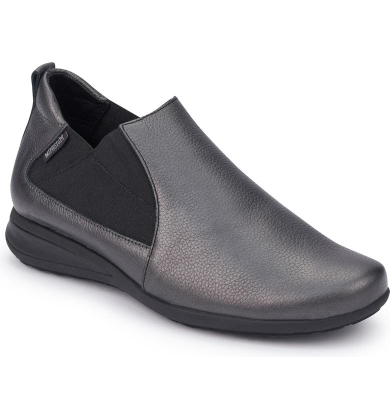 MEPHISTO Nellie Slip-On, Main, color, GRAPHITE LEATHER
