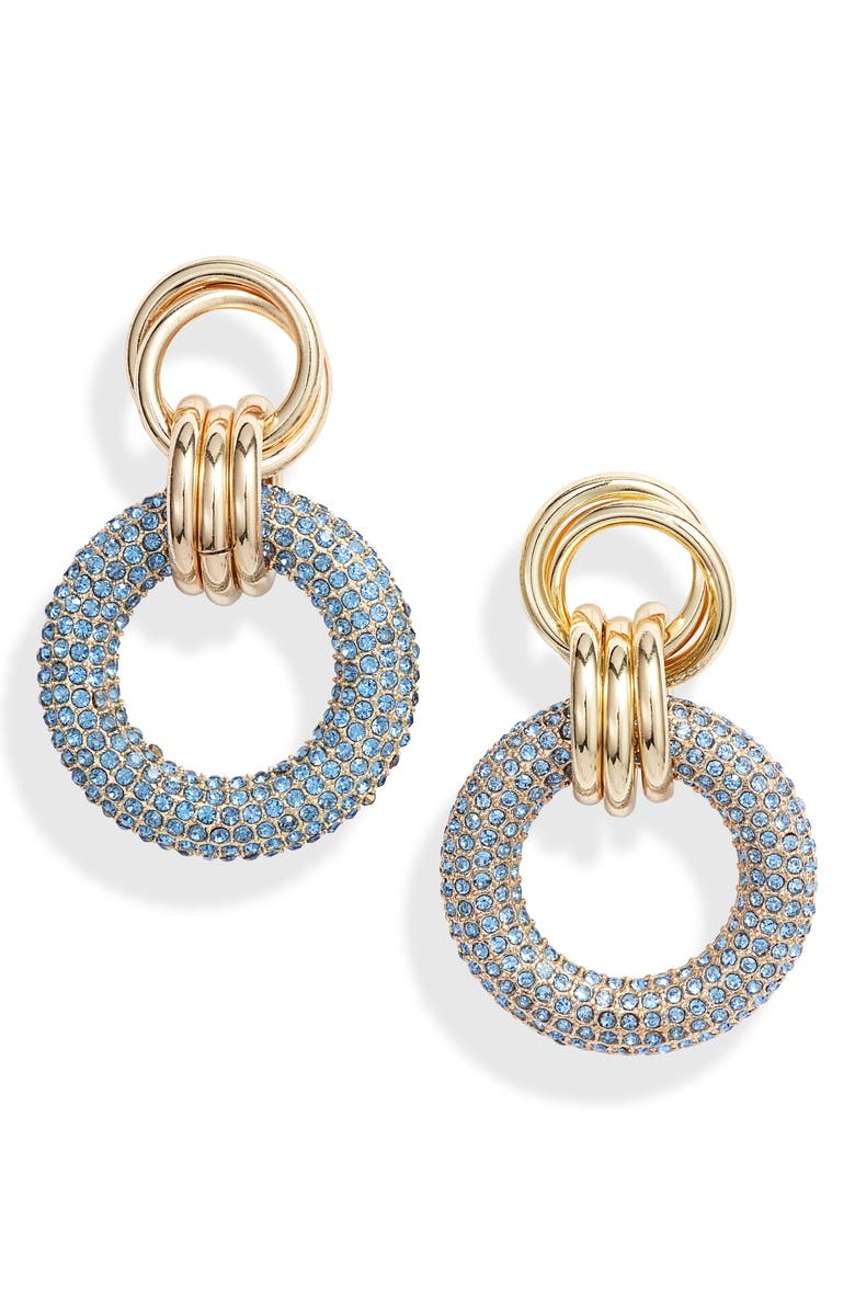 8 OTHER REASONS x Jill Jacobs Drop Earrings, Main, color, BLUE