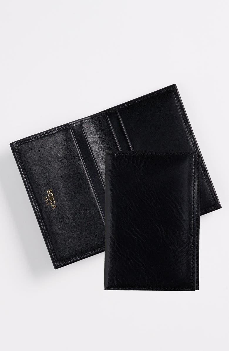 BOSCA Calling Card Case, Main, color, BLACK