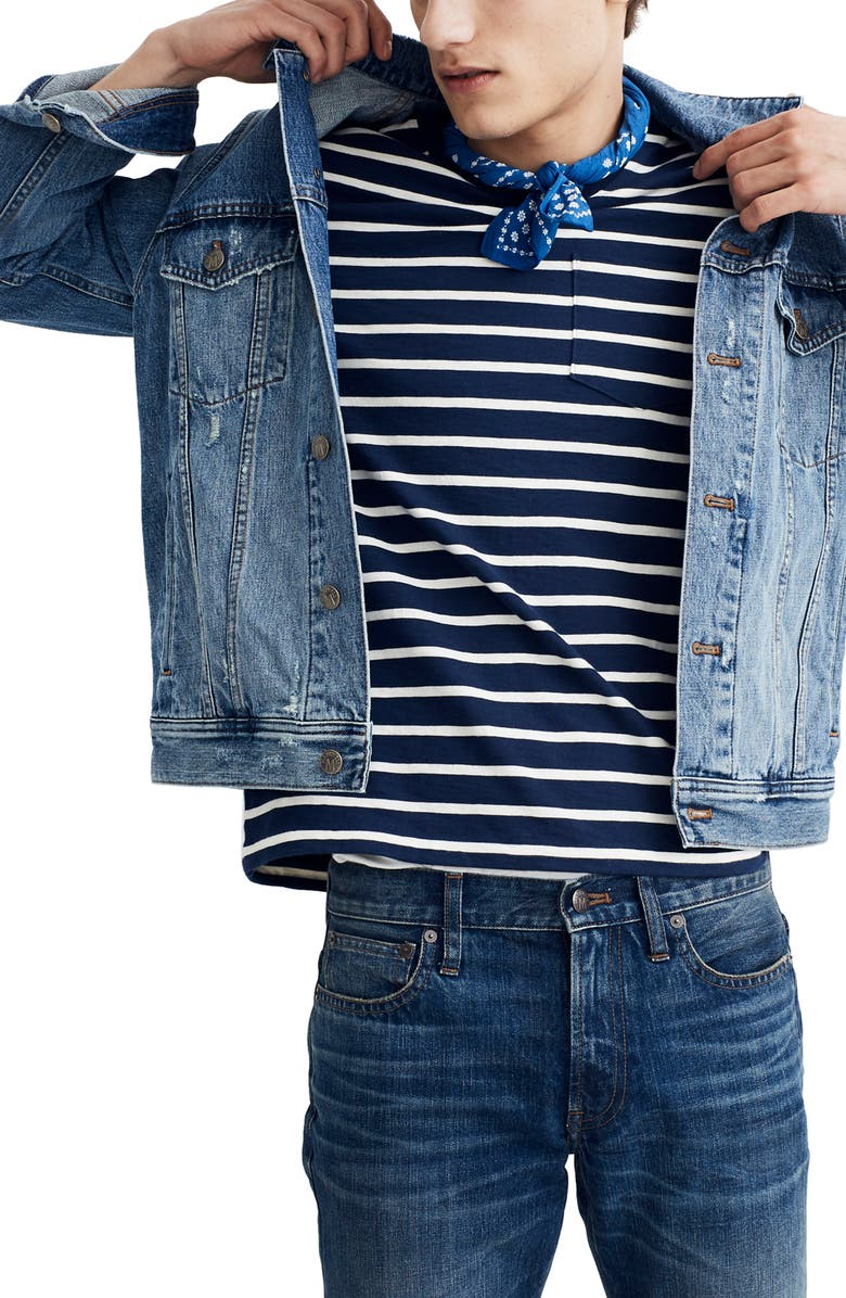 MADEWELL Classic Denim Jacket, Main, color, ARCH