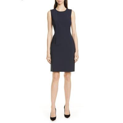 Boss Dirusa Tropical Stretch Wool Dress, Blue