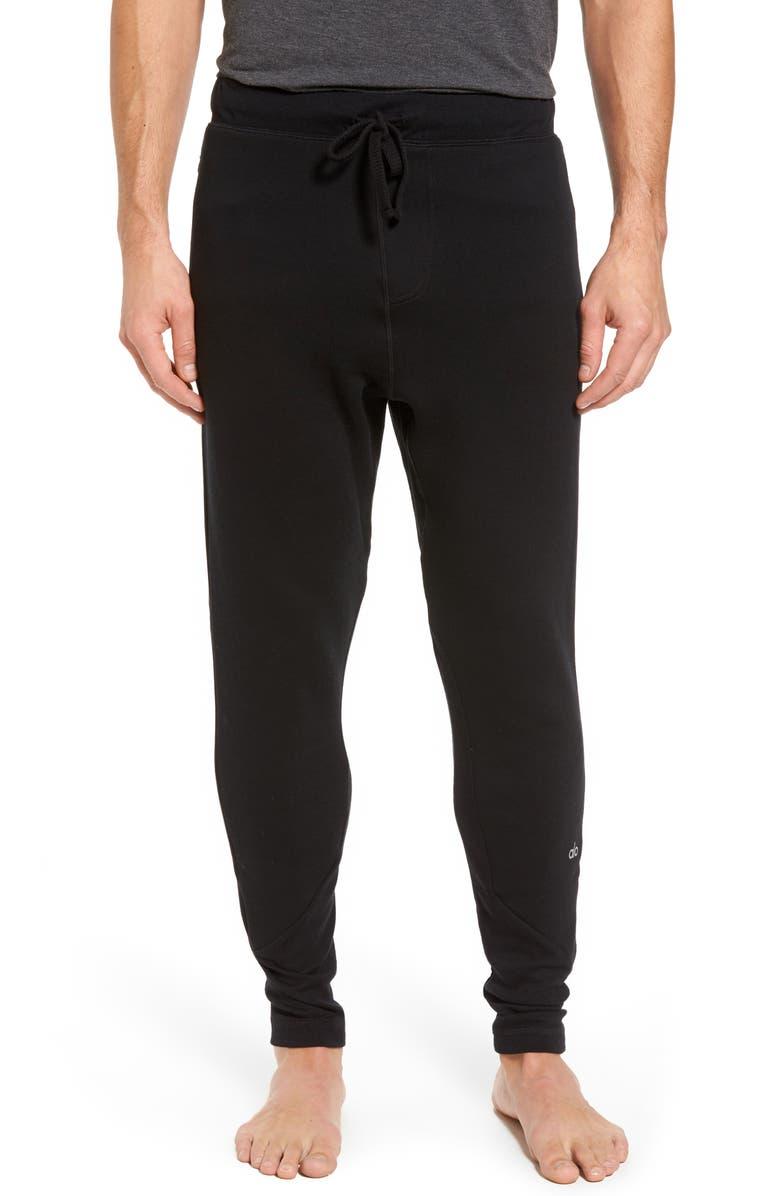 ALO Zealous Slim Fit Sweatpants, Main, color, 001