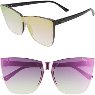 Quay Australia Come Thru 5m Gradient Cat Eye Sunglasses - Pink/ Black