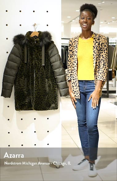 Water Resistant Faux Fur Puffer Coat, sales video thumbnail