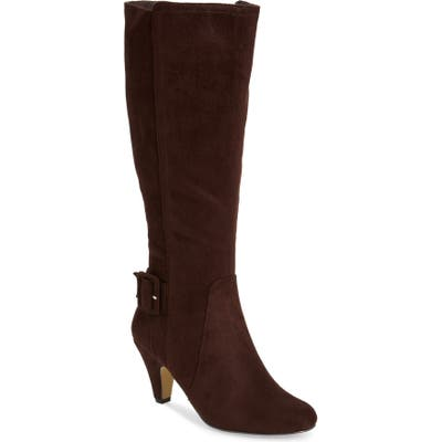 Bella Vita Troy Knee High Buckle Boot, WW - Brown