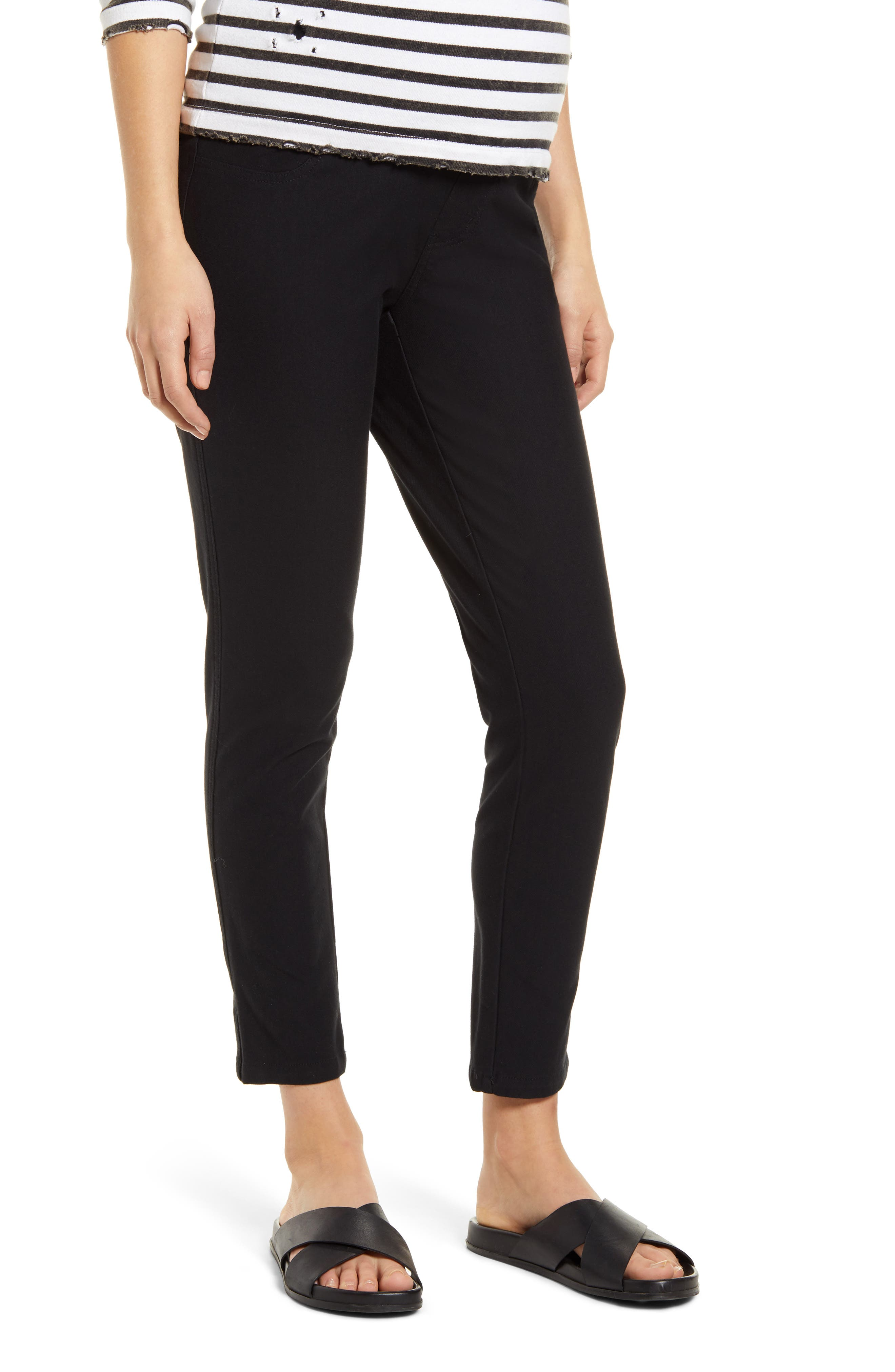 Women's Angel Maternity Over The Belly Crop Slim Maternity Pants