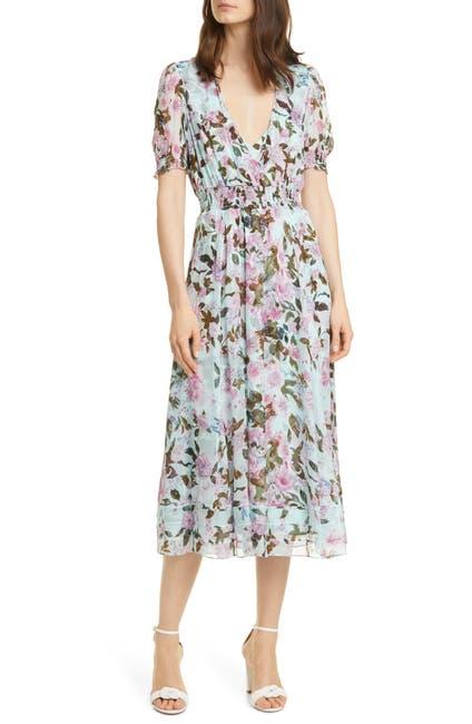 Image of Diane von Furstenberg Palmer Floral Print Silk Midi Dress