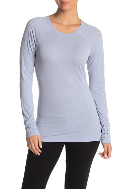 Image of Z By Zella Limber Perforated Long Sleeve Top
