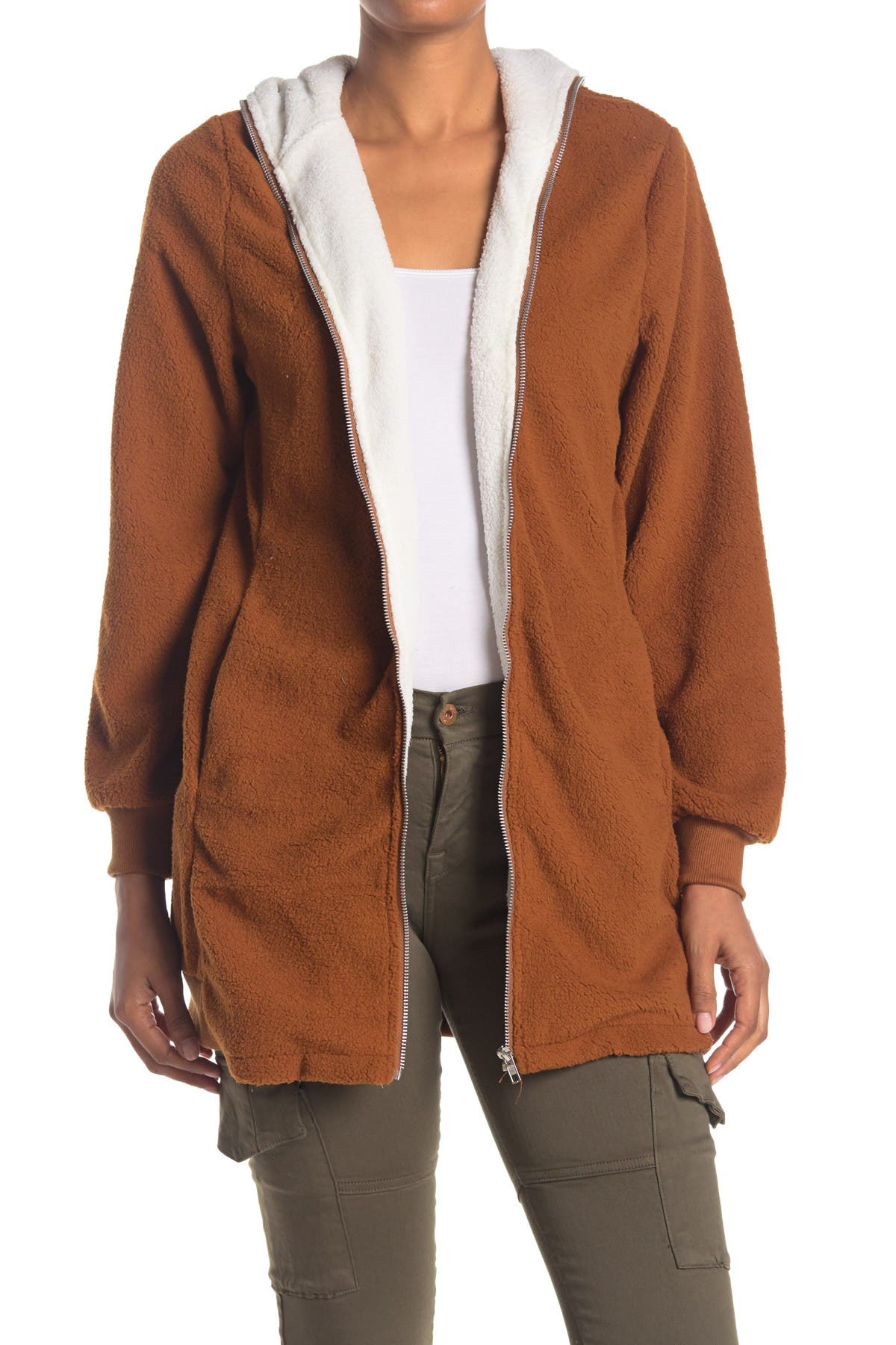 Image of Forgotten Grace Contrast Zip Front Hood Jacket