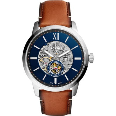 Fossil Townsman Automatic Leather Strap Watch,