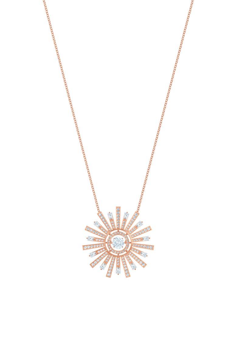 SWAROVSKI Sunshine Long Pendant Necklace, Main, color, WHITE