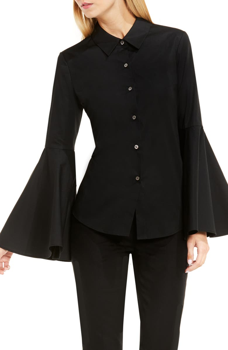 VINCE CAMUTO Bell Sleeve Shirt, Main, color, 006