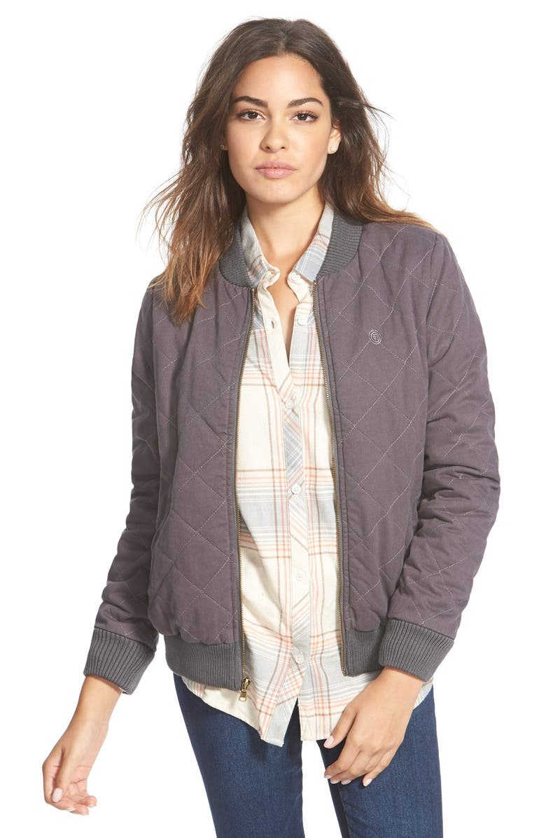 ELEMENT 'Vera' Quilted Bomber Jacket, Main, color, 028