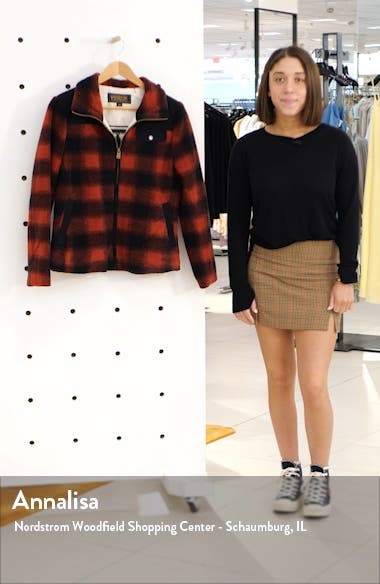 Camas Water Resistant Plaid Fleece Coat, sales video thumbnail