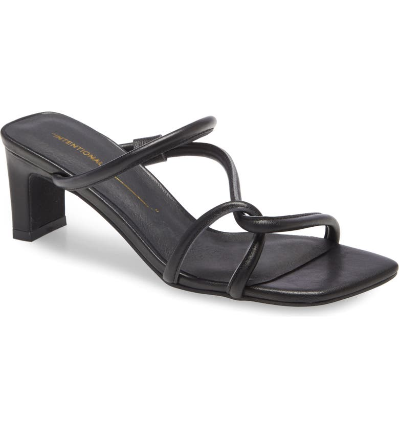 INTENTIONALLY BLANK Willow Slide Sandal, Main, color, BLACK LEATHER