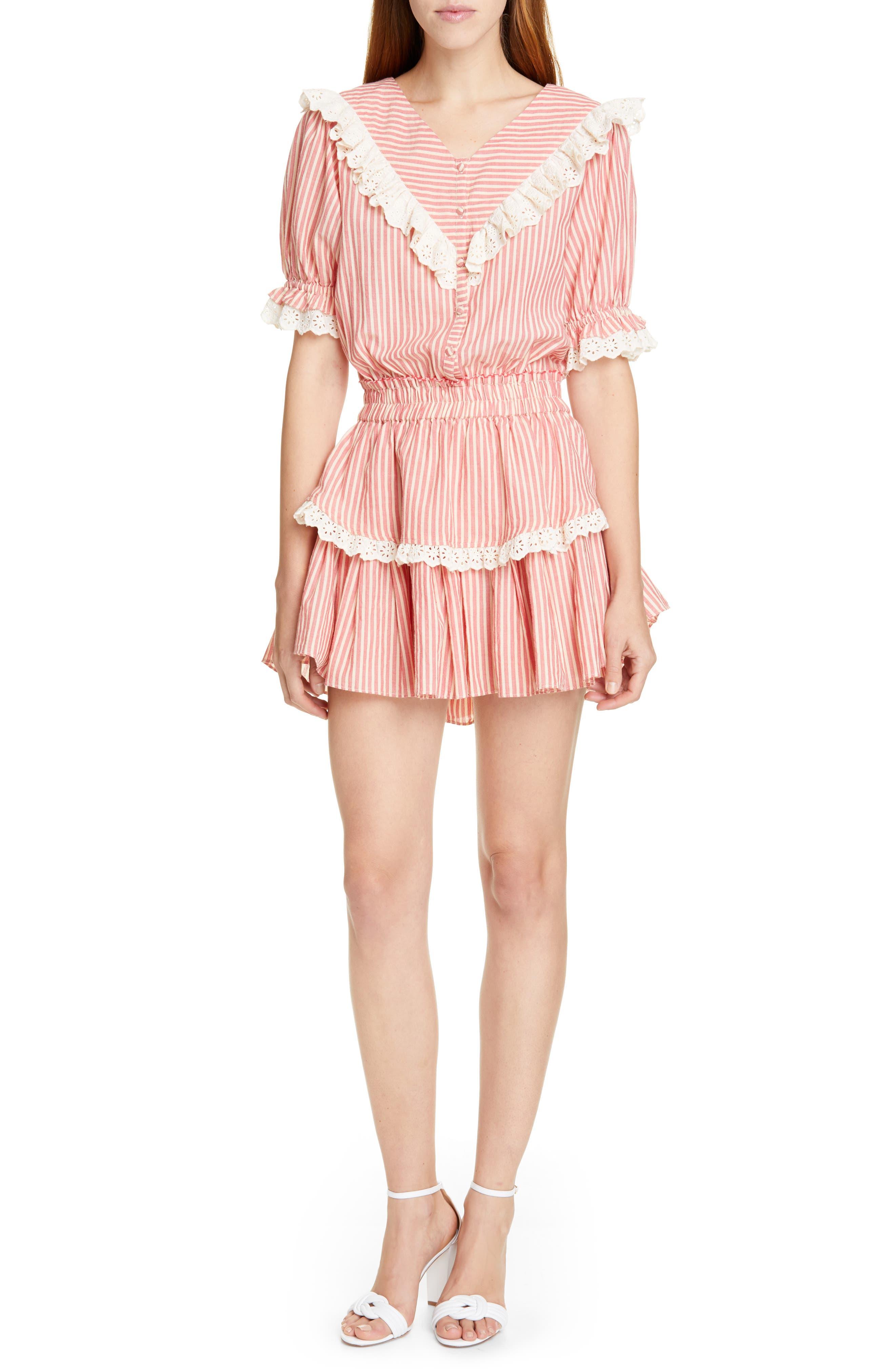 Loveshackfancy Nanette Minidress, Pink