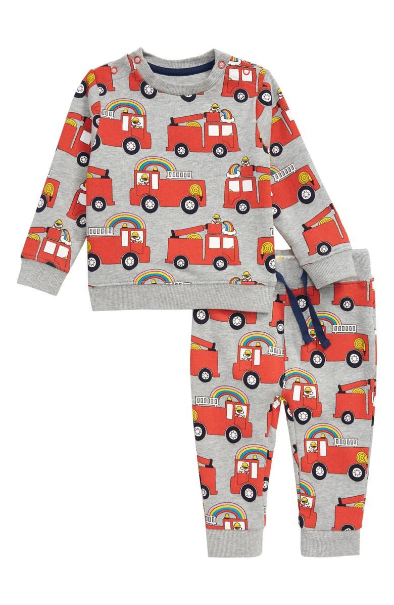 MINI BODEN Sweatshirt & Sweatpants Set, Main, color, 062