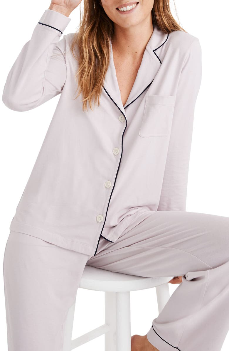 MADEWELL Knit Bedtime Pajama Top, Main, color, PALE LILAC