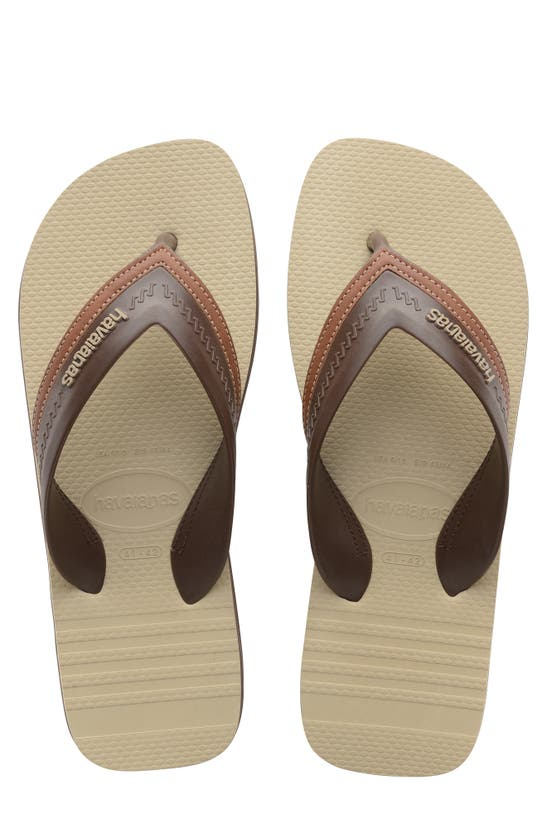 Havaianas Hybrid City Flip Flop In Dark Brown
