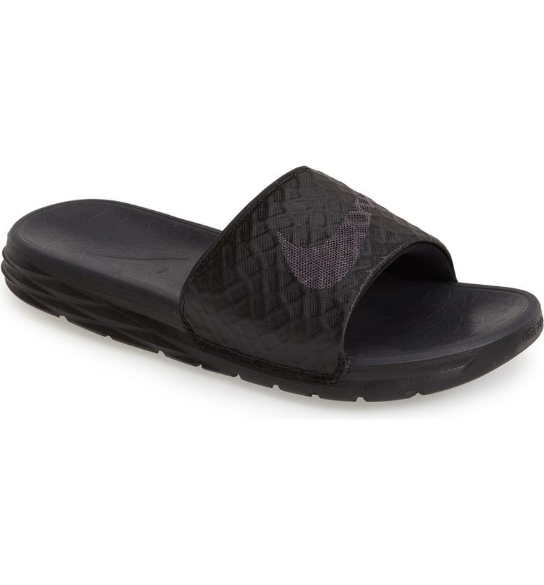 NIKE Benassi Solarsoft 2 Slide Sandal, Main, color, BLACK/ ANTHRACITE
