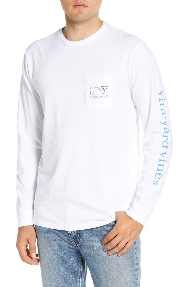 VINEYARD VINES Tricolor Whale Pocket T-Shirt, Main, color, 100