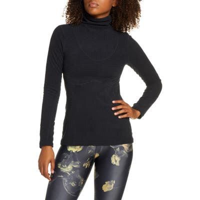 Nike Pro Hyperwarm Velour Top, Black