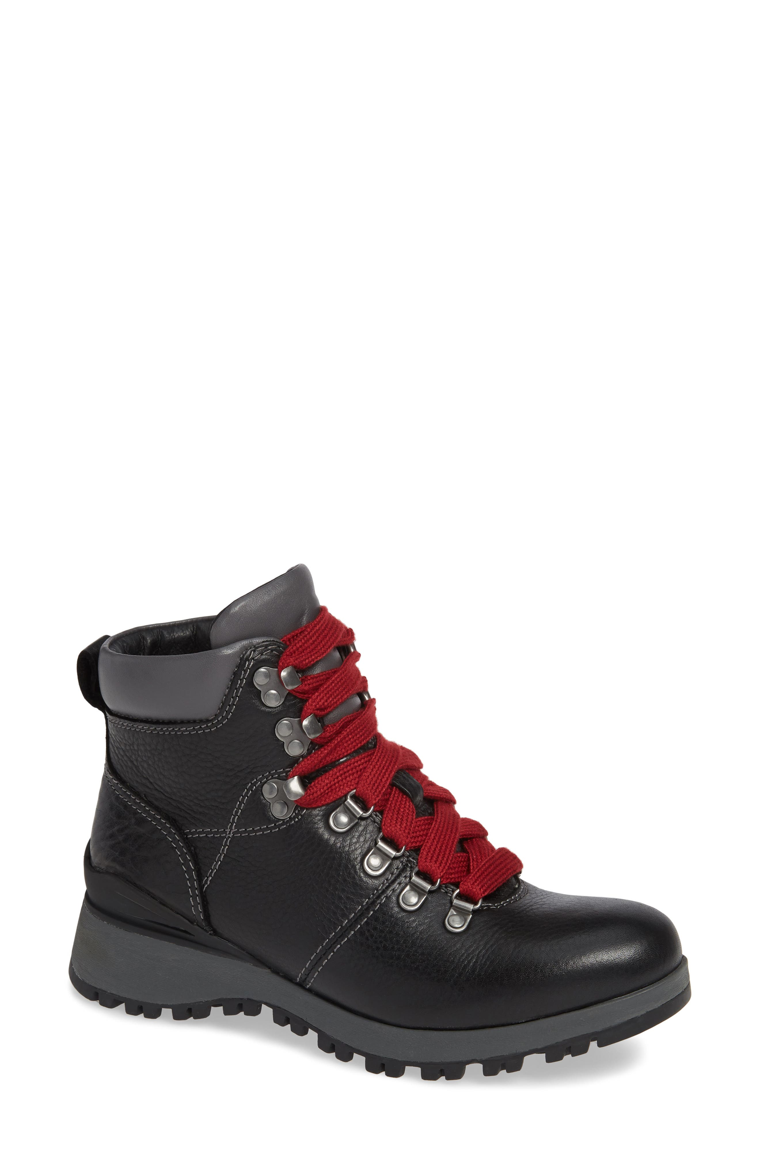 ,                             Dalton Lace-Up Waterproof Boot,                             Main thumbnail 1, color,                             BLACK LEATHER