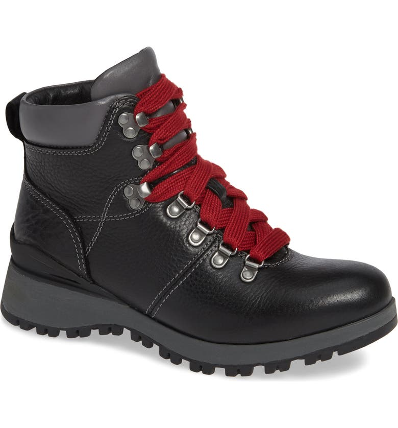 BIONICA Dalton Lace-Up Waterproof Boot, Main, color, BLACK LEATHER