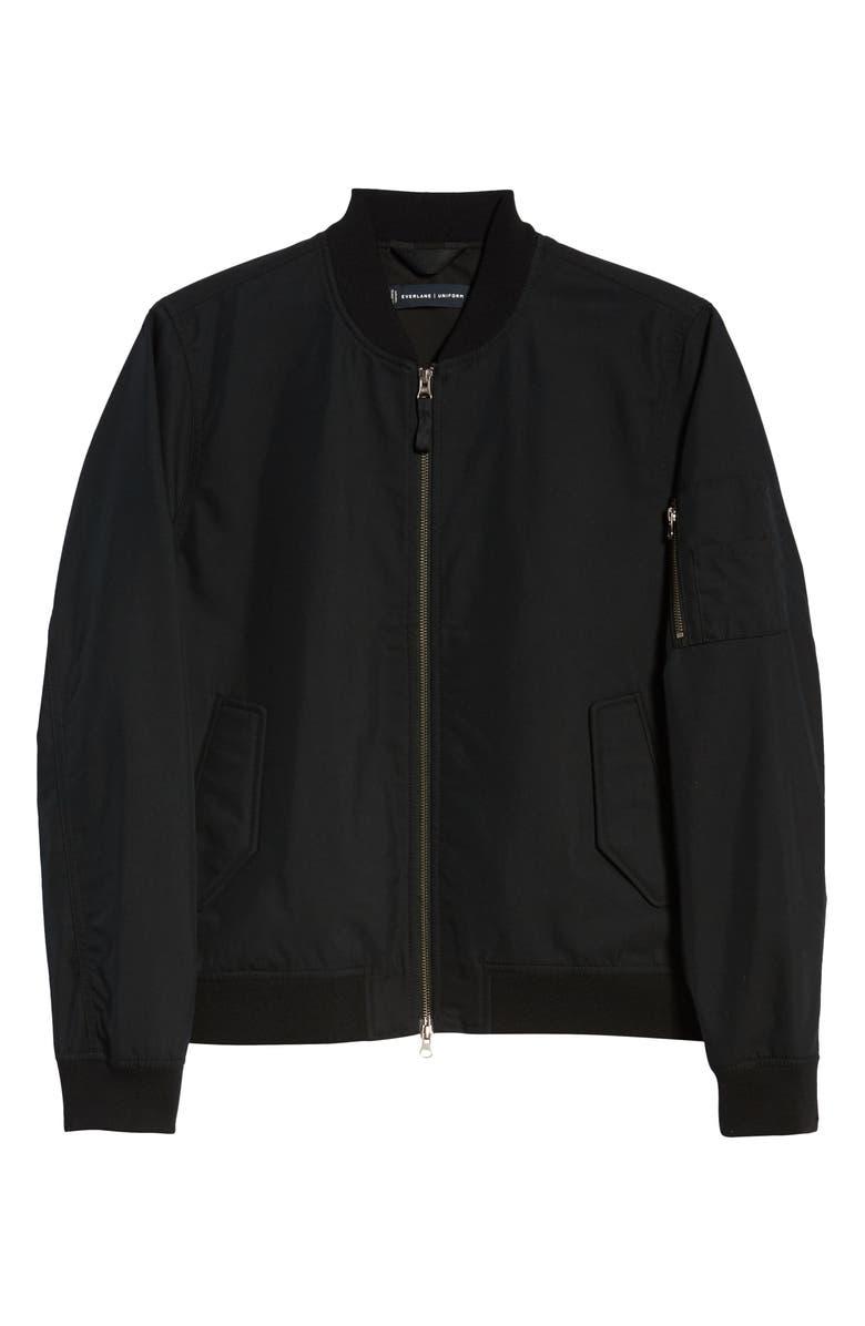 EVERLANE Uniform The Bomber Jacket, Main, color, BLACK