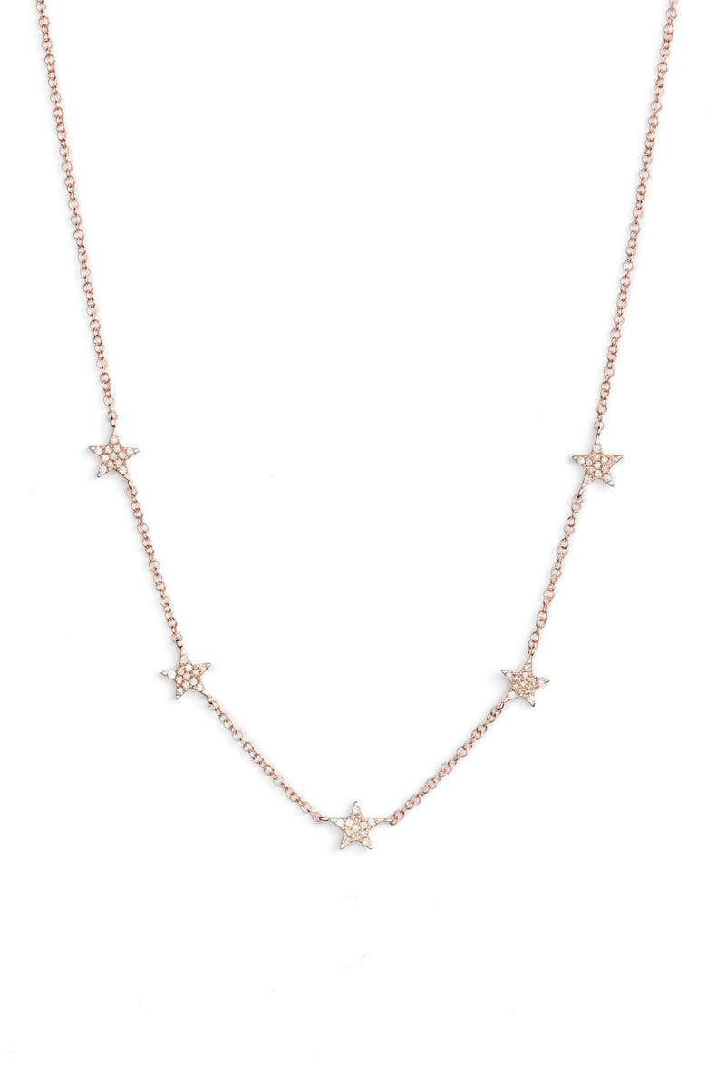 EF COLLECTION Five-Star Diamond Station Necklace, Main, color, 712