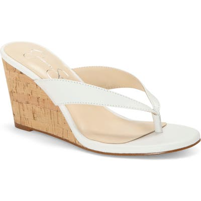 Jessica Simpson Coyrie Wedge Flip Flop, White