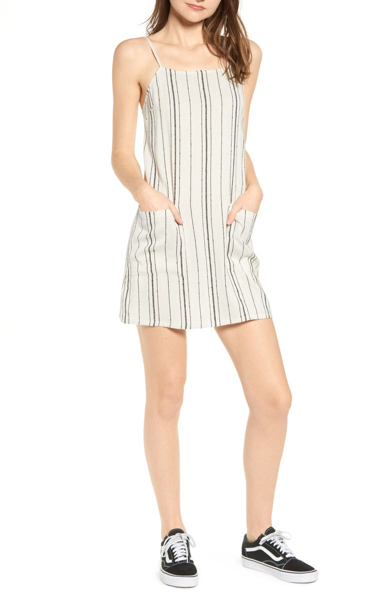 BILLABONG Straight Around Stripe Sundress, Main, color, 100