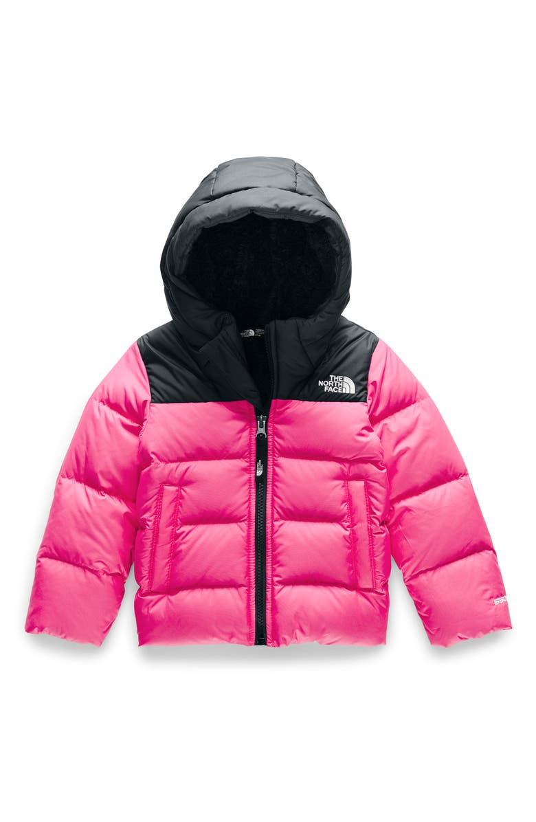 THE NORTH FACE Moondoggy Water Repellent Down Jacket, Main, color, MR. PINK