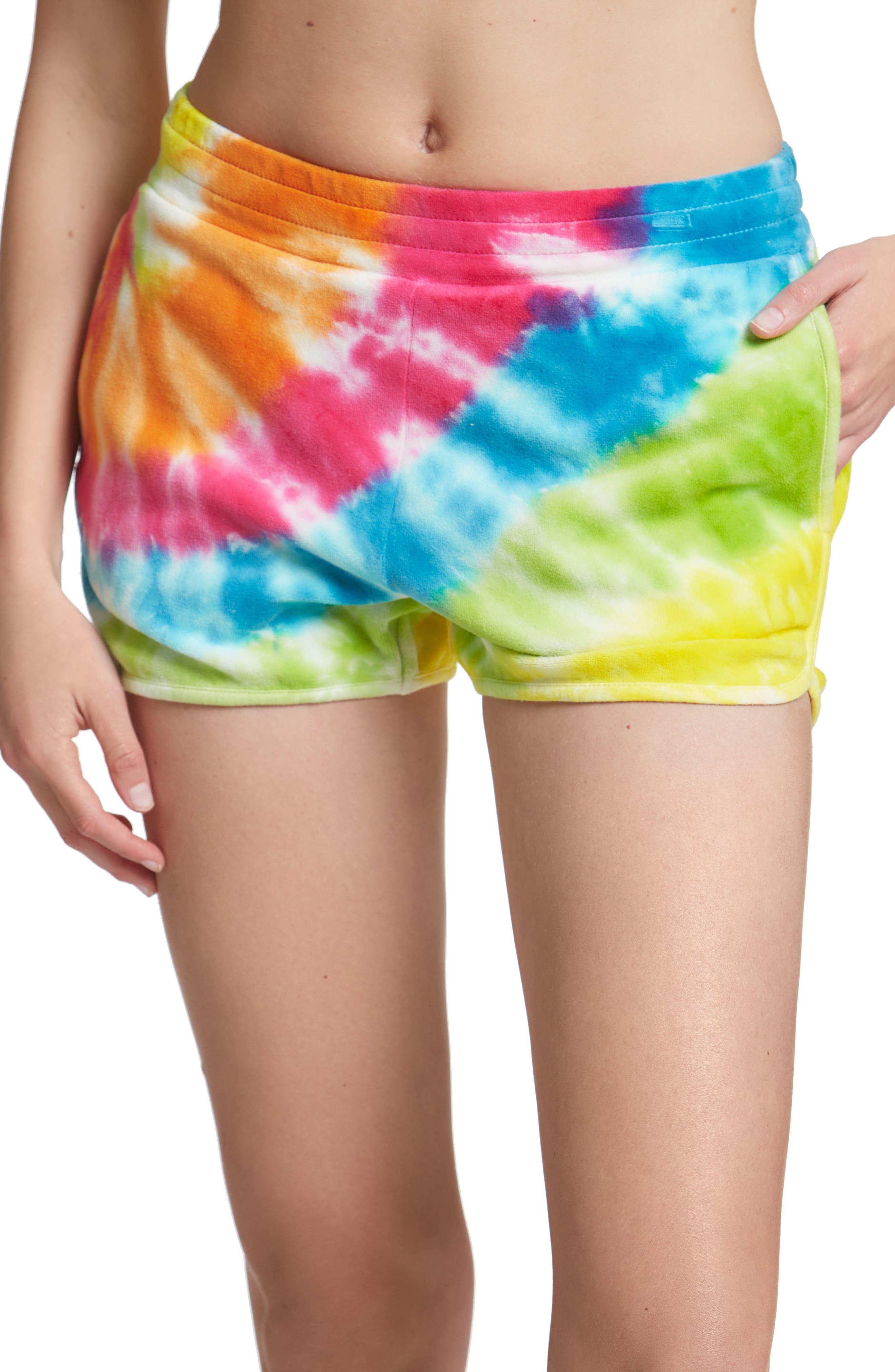 Tie Dye Velour Shorts