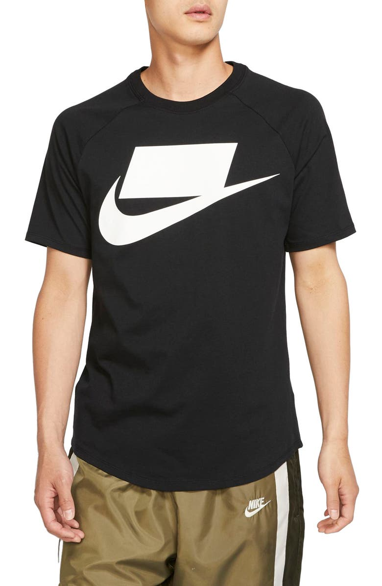NIKE Sportswear Logo T-Shirt, Main, color, BLACK/ WHITE