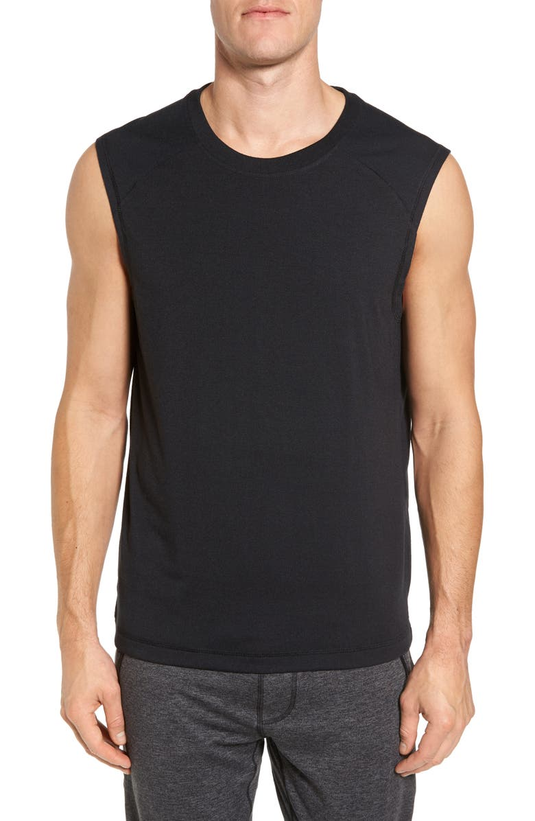 ALO Dharma Slim Fit Performance Tank, Main, color, 001