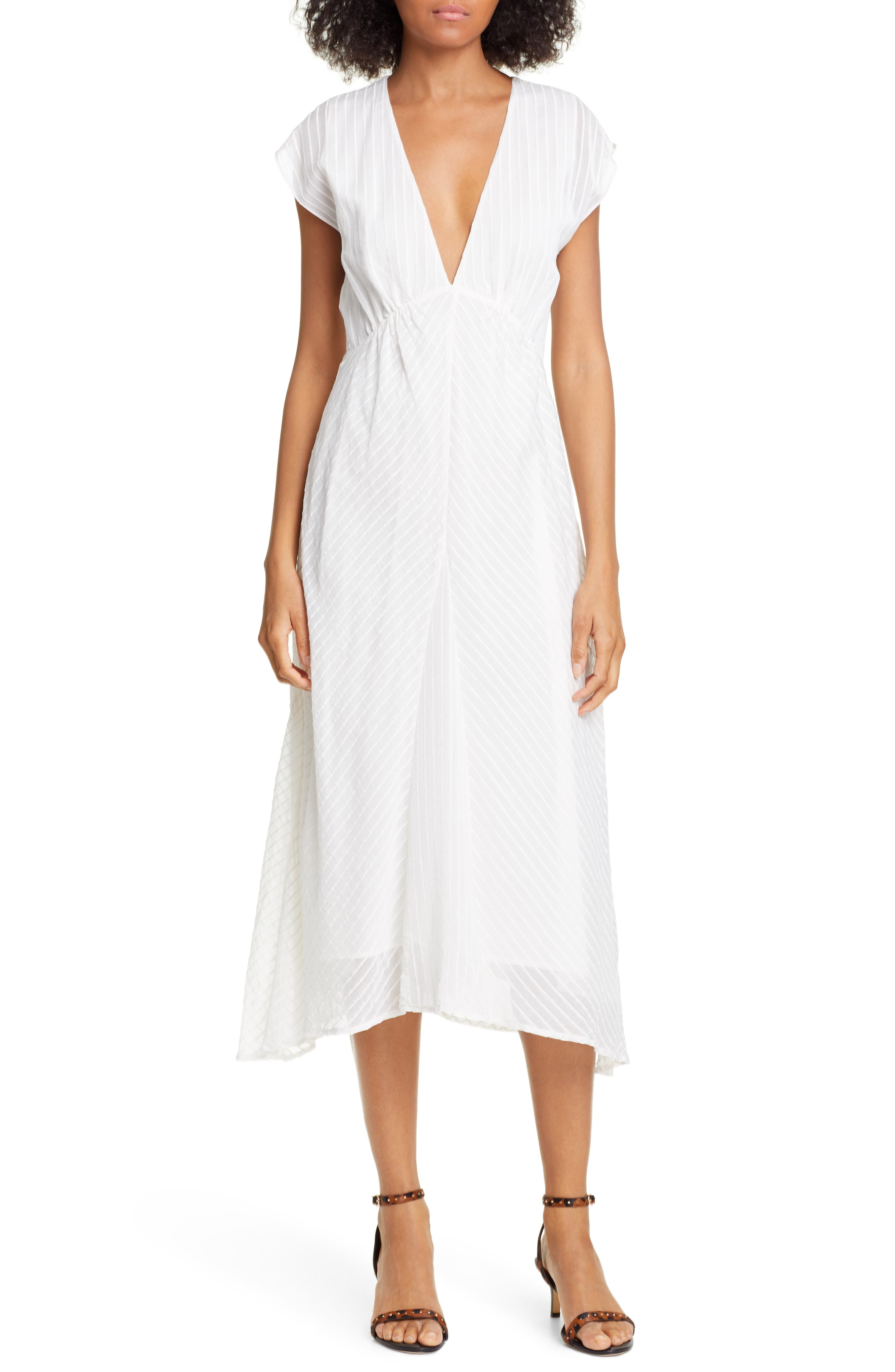 Shaeryl Midi Dress, Main, color, PORCELAIN